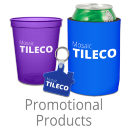 Promotional Items - Cups Keychains Koozies