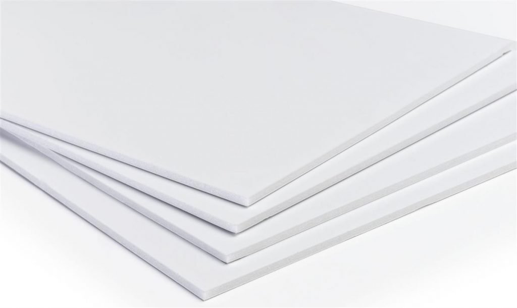 Foam Cor or Foam Board material is a good short to medium term indoor material for signs.